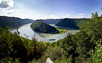 Danube Bend near Schlogen, Austria. ©TO