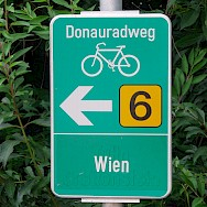 Popular bike path signs 'Donauradweg' guide you on this bike tour. 'Wien' is Vienna. Photo via Flickr:MuntyPix