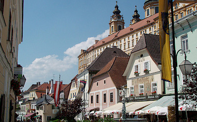 Biking through Krems, Austria. Flickr:MuntyPix