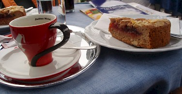 'Linzertorte with Kaffee' in Linz, Austria. Photo via Flickr:MuntyPix