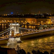 Széchenyi Chain Bridge, Budapest, Hungary. Photo via Wikimedia Commons.