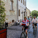 Cycling through Vac, Hungary. Photo via TO
