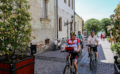 Cycling through Vac, Hungary. ©TO