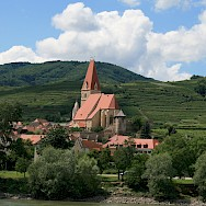 Wachau Valley with its many vineyards along the Danube River in Austria. Photo via Flickr:jay8085