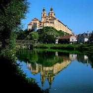 Abbey of Melk, a Baroque Benedictine monastery, Lower Austria. Photo courtesy of Austrian National Tourist Office