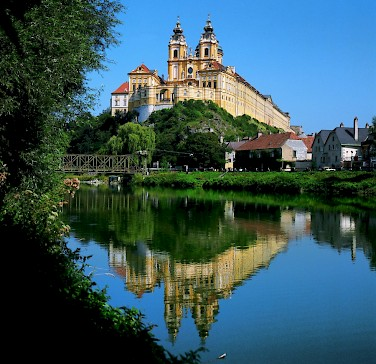 Abbey of Melk - a Baroque Benedictine monastery. Photo courtesy of Austrian National Tourist Office