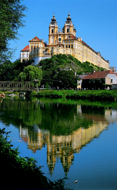 Abbey of Melk, a Baroque Benedictine monastery, Lower Austria. Photo courtesy of Austrian National Tourist Office