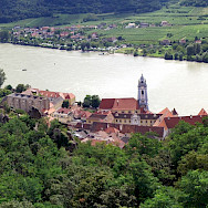 Durnstein on River Danube in Wachau wine-growing region, Austria. Photo via Flickr:Mikel Ortega