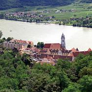 Durnstein on River Danube in Wachau wine-growing region, Austria. Photo via Flickr:Mikel Ortega