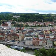 Panoramic of Passau (City of 3 Rivers), Germany. Photo via Flickr:Brian Burger