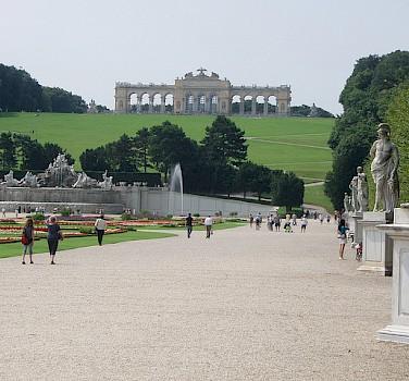 Schönbrunner Schloss, Vienna - a nice stop off the bike. Photo via Flickr:MuntyPix