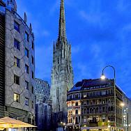 Evening stroll in Vienna, Austria. Photo via Flickr:Pedro Szekely