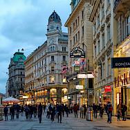 Shopping in Vienna, Austria. Photo via Flickr:Pedro Szekely
