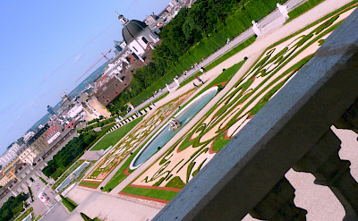 Gardens of Belvedere Castle, Vienna, Austria. Photo via Flickr:Renate Dodell