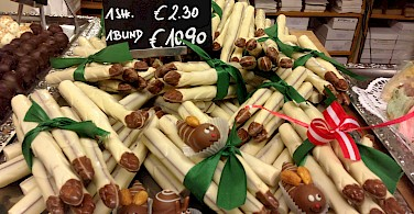 White asparagus chocolates in Vienna, Austria. Photo via Flickr:Andrew Nash