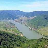 Wine-growing region of Wachau in Austria. Photo via Wikimedia Commons:bwag
