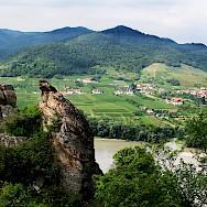 Wachau Valley vineyards along the Danube River, Austria. Photo via Flickr:alchen_x
