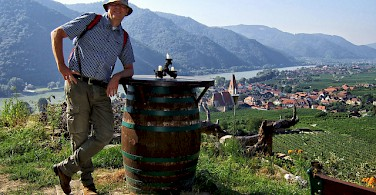 Wine tasting in the Wachau valley along the Danube River in Austria. Photo via Flickr:thomassimon