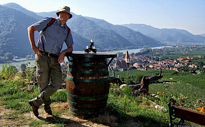 Wine tasting in the famous Wachau Valley along the Danube River, Austria. Photo via Flickr:thomassimon