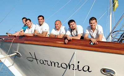 Crew on the Harmonia | Bike & Boat Tours