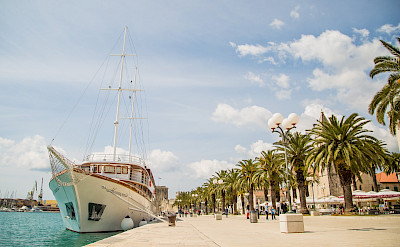 Harmonia docked in Trogir | Bike & Boat Tours
