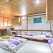 Triple Cabin on the Harmonia (Below Deck)