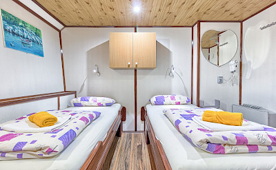 Twin Cabin on the Harmonia | Bike & Boat Tours