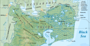 Map of the Danube Delta in Tulcea County, Romania. Photo via Wikimedia Commons:Orion 8