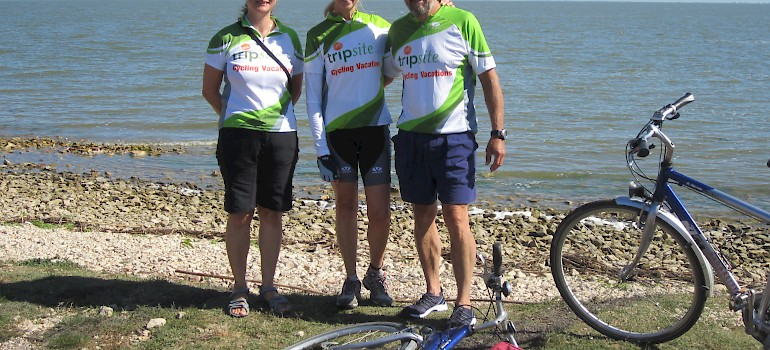 Photo courtesy of Don Conklin - cycling along Danube Delta
