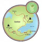 Cruzada pelos Castelos da Escócia Mapa