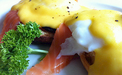 Eggs and salmon are a common treat in New Zealand. Photo via Flickr:adactio