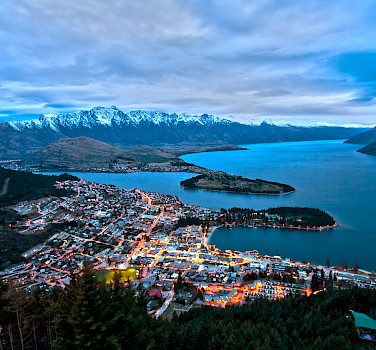Queenstown and Lake Wakatipu from Bob's Peak, New Zealand. Photo via Wikimedia Commons:Lawrence Murray