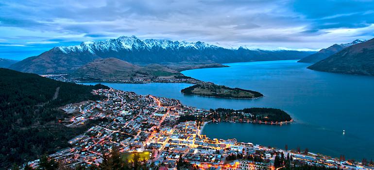 Queenstown and Lake Wakatipu from Bob's Peak, New Zealand. Photo via Wikimedia Commons:Lawrence Murray
