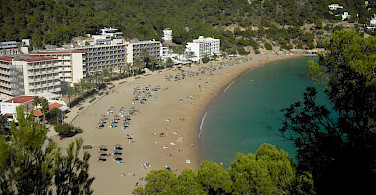 Ibiza - Cala San Vincente - a stop on our the cycle tour