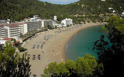 Ibiza - Cala San Vincente - a stop on our the cycle tour