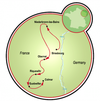 Alsace Road Bike Tour Map
