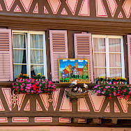 Lovely facades in Colmar, Alsace, France. Photo via Flickr:Kiefer