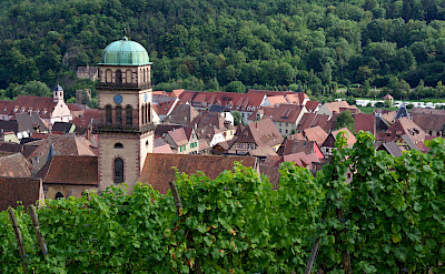 Bell tower of Kaysersberg, Alsace, France. Photo via Wikipedia Commons:JLPC