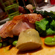 Wining and dining in Alsace - great biking fuel. Photo via Flickr:leafar