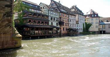 Biking to Strasbourg along the Rhine River. Photo via Flickr:DoctorWho