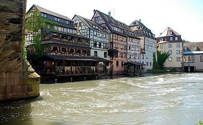Bike rest in Strasbourg along the Rhine River, Alsace, France. Photo via Flickr:DoctorWho