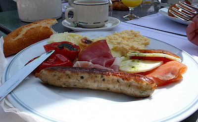 Delicious meats and cheeses to go with the wines in the Alsace region. Photo via Flickr:leafar