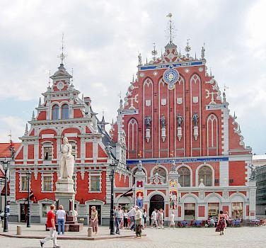 Building of the Brotherhood of Blackheads, Riga, Latvia. Photo via Wikimedia Commons:Public Domain
