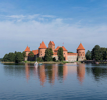 Island Castle of Trakai in Lithuania. Photo via Wikimedia Commons:Diliff