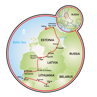 Cycling in the Baltics Map