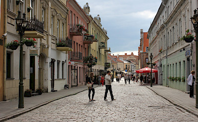 Bike break in Kaunas, Lithuania. Flickr:Christine und Hagen Graf