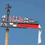 Curonian flag from Nida, Lithuania. Photo via Wikimedia Commons:Brunswyk