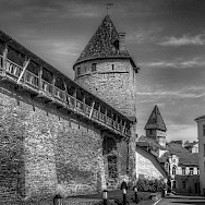 Old fortified walls of Tallinn, Estonia. Photo via Flickr:Mike Beales