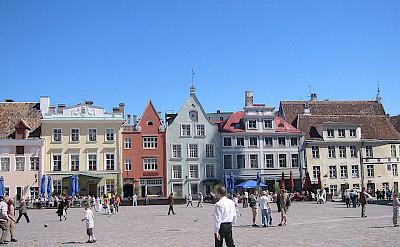 Bike rest in Tallinn, a UNESCO World Heritage Site. Flickr:mdid
