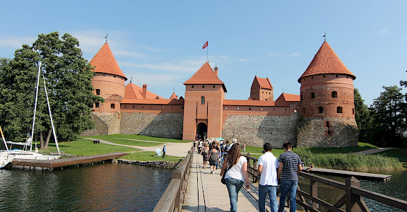 Trakai Castle in Lithuania. Flickr:Nicu Buculei